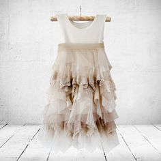 Petal in vintage colours. Flower-girl, christening or party dress. Little Miss Little Miss Dress, Soft Layers, Girl Christening, Fabric Textures, Baby Boutique, 21 Days, Vintage Colors, Special Occasion Dresses, Ankle Length