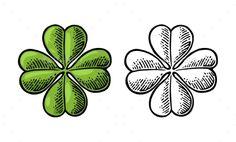 Good Luck Vintage Four Leaf Clover