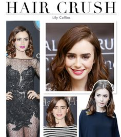 Hair Crush: The Secret to Lily Collins Perfectly Textured Bob