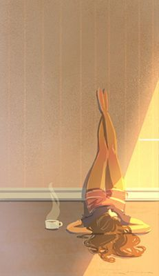 bora bora honeymoon Tuna Bora - Viparita Karani and tea - utmost relaxing - yoga Mode Poster, Pascal Campion, Illustrator, Yoga Art, Coffee Art, Coffee Shop, Aesthetic Art, Cartoon Art, Cartoon Drawings