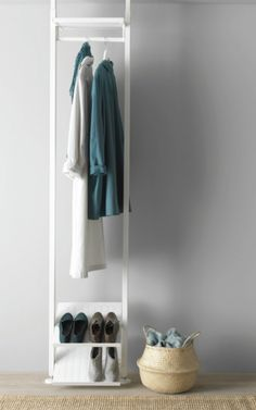 The Best Small Space Storage Ideas from the IKEA 2017 Catalog The Best Small Space Storage Ideas from the IKEA 2017 Catalog via Brit Co The post The Best Small Space Storage Ideas from the IKEA 2017 Catalog appeared first on Garderobe ideen. Coat Storage Small Space, Small Coat Closet, Storage Spaces, Storage Ideas, Ikea Small Apartment, Small Apartments, Ikea Small Spaces, Small Closet Organization, Closet Storage