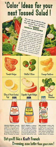Vintage Ad #1,826: Color Ideas for your next Tossed Salad! by jbcurio, via Flickr