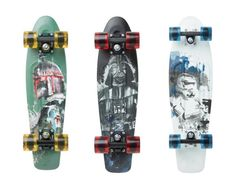 Looking for the perfect Star Wars gift for your teen? These star wars penny skateboards are the perfect gift for any kid. Choose between Boba Fett, Darth Vader or a Stormtrooper. Star Wars Skateboard, Blank Skateboard Decks, Skateboard Grip Tape, Penny Skateboard, Skateboard Shop, Custom Longboards, Custom Skateboards, Complete Skateboards, Star Wars Gifts