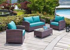 Petunia 4 Piece Deep Seating Group with Cushion