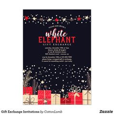 gift exchange invitations office christmas partychristmas