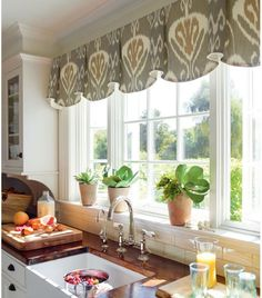 Kitchen Window Ideas (Modern, Large, and Small Kitchen Window Dressing Ideas. Kitchen Window Ideas (Modern, Large, and Small Kitchen Window Dressing Ideas) Kitchen Window Decor, Kitchen Window Valances, Kitchen Windows, Kitchen Curtains, Window Curtains, Room Window, Valences For Kitchen, Window Swags, Valences For Windows