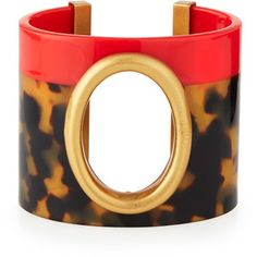 Tory Burch Cutout-Oval Resin Cuff