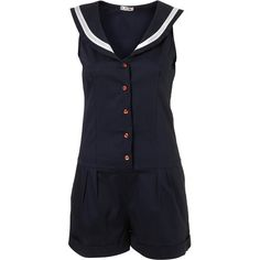 Sailor Playsuit By Wal G** ($64) ❤ liked on Polyvore featuring jumpsuits, rompers, playsuits, dresses, women, cotton romper, sailor romper, playsuit romper, jump suit and jumpsuits & rompers