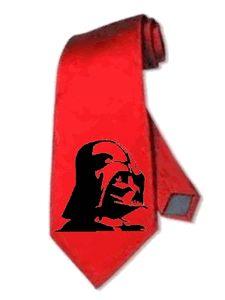 star wars darth vader RED necktie satin silk neck tie