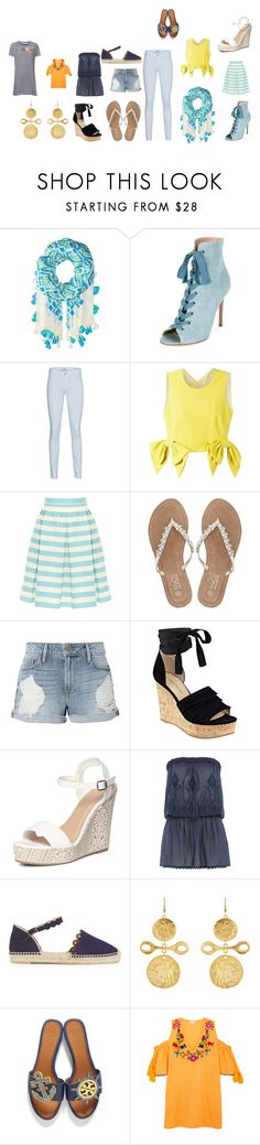 """""""Untitled #307"""" by kaylee-woolsey ❤ liked on Polyvore featuring Vera Bradley, Gianvito Rossi, 7 For All Mankind, MSGM, RED Valentino, M&Co, Frame, Ivanka Trump, Dorothy Perkins and Melissa Odabash"""