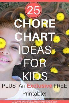 A DIY chore chart ro