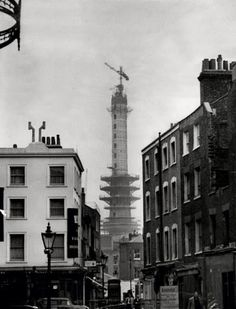 Inch Print - High quality print (other products available) - The Post Office Tower in London under construction, 1963 - Image supplied by The Northcliffe Collection - Photo Print made in the USA Old London, East London, Vintage London, London City, London History, Local History, Family History, London Clubs, Tower Of London