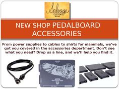 Welcome to our online store. Take some time to browse through our items.Since the beginning we've built a variety of custom guitar equipment. Cases, speaker cabs,ATA cases, cables and accessories just to name a few. Browse around and see what calls to you.From power supplies to cables to shirts for mammals, we've got you covered in the accessories department. Don't see what you need? Drop us a line, and we'll help you find it.
