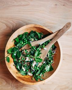 Recipe: Toasted Farro Salad with Fresh Peas Pea Shoots and Herbs  In Like a Lion: Feisty Spring Recipes from Brooklyn Supper