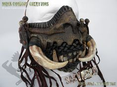 Post Apocalypse 'War Mask' SALVAGED Ware enquiries welcome @ www.markcordory.com