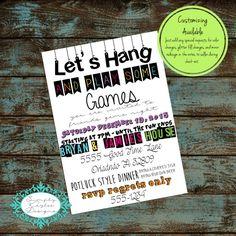Game night poster fun dice template church school community movie game night birthday invitation stopboris Choice Image