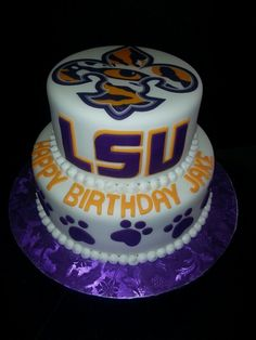 LSU themed cake