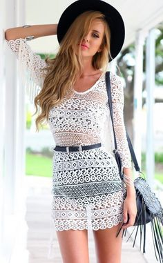 Cheap dress camisole, Buy Quality dress stone directly from China dress pullover Suppliers: 2017 Summer Backless Loose Embroidery Dress White Blouses Tassel Floral Lace Crochet Dresses Retro half Sleeve Women Beach Dress Summer Dress Outfits, White Dress Summer, Casual Dresses, Summer Clothes, Spring Outfits, Crochet Lace Dress, Lace Tunic, Dress Lace, Half Sleeve Women