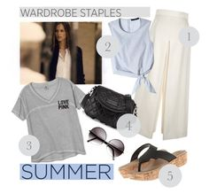 """""""5 Wardrobe Staples/Summer"""" by clotheshawg ❤ liked on Polyvore featuring American Vintage, Proenza Schouler, TIBI, Victoria's Secret, ZeroUV and Crocs"""