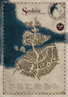 Serdune, The Crimson City by MaximePLASSE.deviantart.com on @deviantART