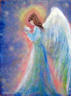 """Healing Angel with Bird 11""""x14"""" by Breten Bryden, BrydenArt.com"""