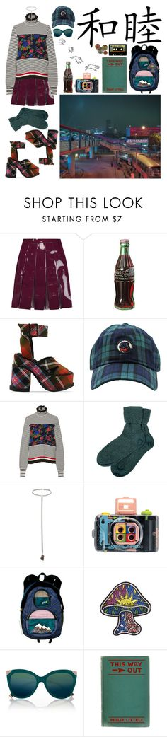 """Color Commuter"" by shelcity ❤ liked on Polyvore featuring Valentino, Retrò, Vivienne Westwood Gold Label, Southern Proper, MSGM, Brora, Topshop, LØMO, River Island and INDIE HAIR"