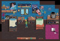 Some 80s bedroom LOVE <3 #screenshotsaturday #indiedev #gamedev from #CrossingSouls