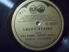 "2nd 78rpm springtimeauction 78rpm with many Raritys :-)      !!! Low Startprice !!! Worldwide shipping !!!     KAY KYSER ""Lucky Strike presents Speed Riggs"" RCA 78rpm 12"" rarest promo record"