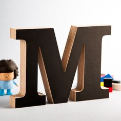 M - wooden letter created from birch plywood. www.mrwoodshop.com