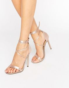 Get this Missguided's heeled sandals now! Click for more details. Worldwide shipping. Missguided Lace Up Barely There Heeled Sandals - Beige: Heels by Missguided, Satin upper, Barely there styling, Lace-up fastening, Tie-leg design, Open toe, High heel, Do not wash, 100% Textile Upper. With an eye on the catwalks and hottest gals around, Missguided's in-house team design for the dreamers, believers and night lovers. Taking the risks no one else dares to, its bodycon dresses, crop tops and…