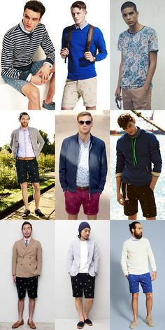 Men's Embroidered Shorts Lookbook