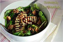 Συνταγή με τίτλο Σαλάτα με σύκα και χαλούμι, σχετικες συνταγές: συνταγές, μαγειρεμα,Σαλάτα,Σύκα,Χαλούμι
