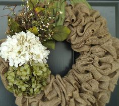 Hey, I found this really awesome Etsy listing at https://www.etsy.com/listing/181467024/spring-hydrangea-wreath-spring-burlap