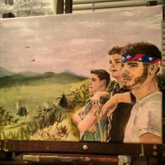 Restless Road painting. Done by me. Colton Pack, Zach Beeken, Andrew Scholz. Restless Road Fan Art. RRFanArt Emily Greeson
