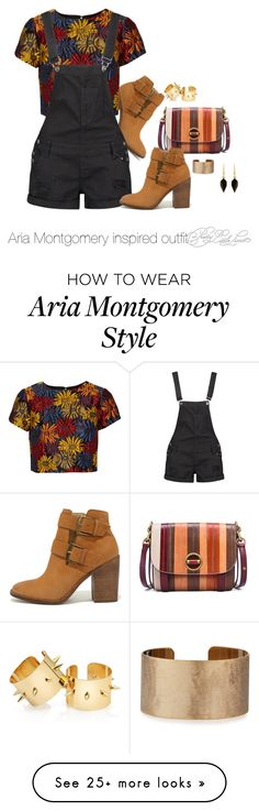 """Aria Montgomery inspired outfit!/PLL"" by tvdsarahmichele on Polyvore featuring Steve Madden, Alice + Olivia, Tory Burch, Boohoo, Panacea and Isabel Marant"