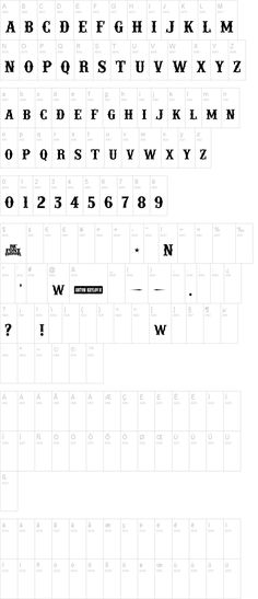 'IFC Rail Road' font ... For the rest of the sheet?