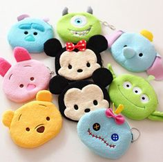 TSUM TSUM Plush Wallets Cartoon Mickey Minnie Children Coin Purse Cute Pooh Monster High Mini Admission Package Bags for Boys Girls 201508HX Online with $1.91/Piece on Moonlightzhou's Store | DHgate.com