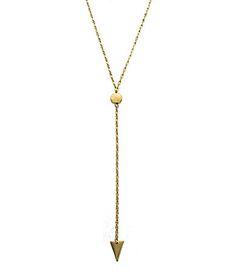 Panacea Gold Y-Necklace   Dillards