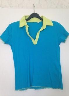 À vendre sur #vintedfrance ! http://www.vinted.fr/mode-femmes/hauts-and-t-shirts-t-shirts/24626996-polo-en-coton-bicolore-stanford-bleu-azurjaune-chartreuse