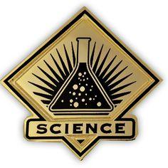 PinMart's Black and Gold Science Student School Teacher Lapel Pin - CB11KPNWNUT - Brooches & Pins  #jewellrix #Brooches #Pins #jewelry #fashionstyle