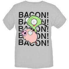 invader zim gir bacon t shirt | Hot\ Topic Invader Zim Gir Bacon T-Shirt 3xl - Polyvore