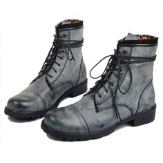Trend boots male special forces of England Korean men boots. I don't usually go for boots, but I'd wear these.