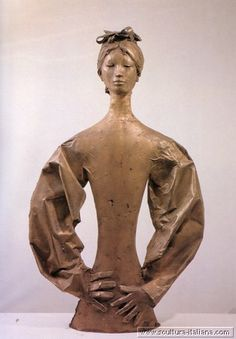 Giacomo Manzu' - La signora giapponese (Bergamo, Galleria d'Arte Moderna e Contemporanea, 1971-82.jpg