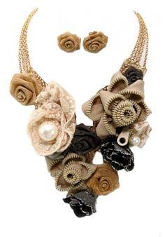 cute fabric necklace