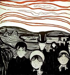 Anxiety, Edvard Munch, 1896
