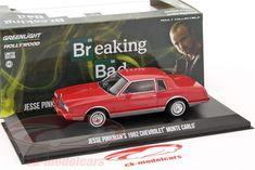 CK-Modelcars - 86501: Jesse Pinkman's Chevrolet Monte Carlo Сериал Breaking Bad 2008-13 красный 1:43 Greenlight, EAN 812982025236