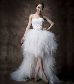 short wedding dresses with long trains - Google Search  Jenny ...