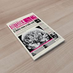 Diario // Newspaper on Behance Newspaper Layout, Newspaper Cover, Newspaper Design, Web Design Trends, Design Web, Graphic Design Resume, Annual Report Design, Concept Board, Portfolio