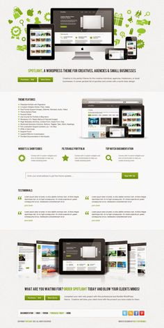 Spotlight PSD Template