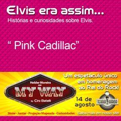 """#MyWaynoTerradaGaroa  Você sabia?  """"Cadillac de Elvis foi comprado em 1955. Era azul, mas Elvis o pintou de rosa. Mais um presente de sua mãe e custou cinco mil dólares! """"  www.terradagaroa.com.br"""